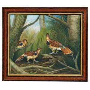 Gerard Hardenbergh (New Jersey, 1855-1915)      Three Ruffed Grouse