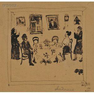 Marc Chagall (French/Russian, 1887-1985)      Rendez-vous ou Sabbat