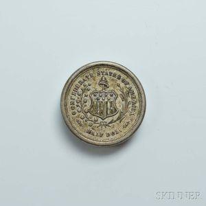 Confederate Half Dollar-style Stamp/Trinket Box.     Estimate $20-30