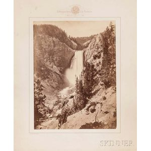 William Henry Jackson (American, 1843-1942)      Great Falls of the Yellowstone