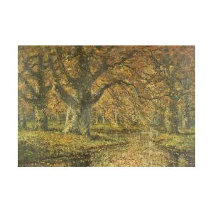 Gregory Hollyer (British, 19th/20th Century)  Under the Beech Tree, Autumn