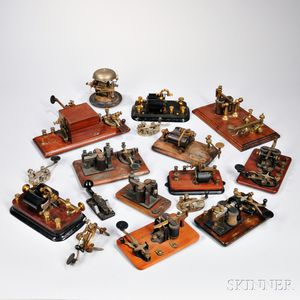 Collection of Telegraph Keys and Parts