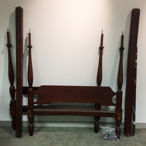 Federal Mahogany Four-post Canopy Bed