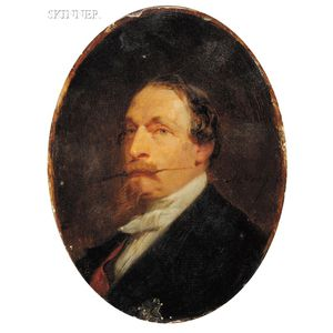 Adolphe Yvon (French, 1817-1893)      Portrait of a Man, Possibly a Napoleonic Emissary