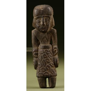Pre-Columbian Carved Wood Figure
