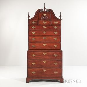 Carved Cherry Chest-on-Chest