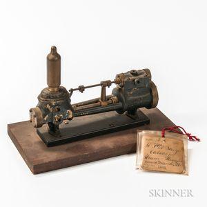 M.F. DeSouza Value Steam Pump Patent Model