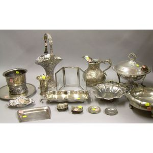 Group of Silver Plated Tableware and Items