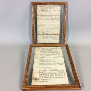 John Hancock, 1775, Judgment Document and Samuel Pemberton, 1756, Judgment Document