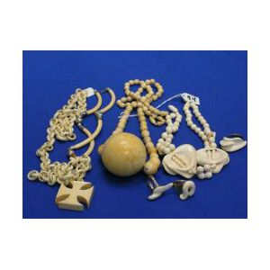 Group of Carved Ivory Jewelry.
