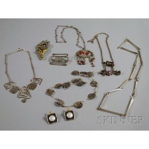 Group of Contemporary Sterling Silver Jewelry