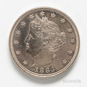 1883 With Cents Proof Liberty Head Nickel.     Estimate $200-400