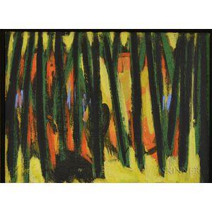 Bernard Langlais (American, 1923-1977)      Trees