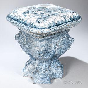 Tin-glazed Earthenware Garden Seat