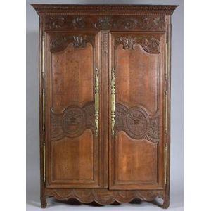 Louis XV Style Oak Armoire