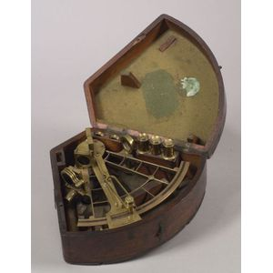 9-inch Radius Brass Lattice-Pattern Sextant