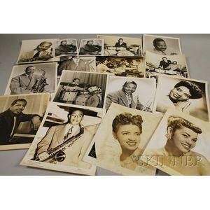 Sixteen Duke Ellington and Orchestra Members Publicity Portrait Photographs