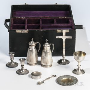 Eight-piece Black, Starr & Frost Ecclesiastical Sterling Silver Presentation Set