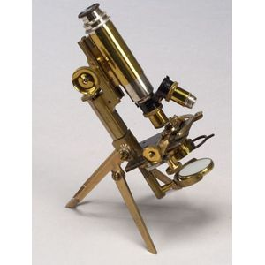 Lacquered-Brass Folding Compound Microscope by J. Swift & Son