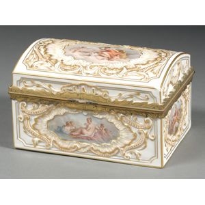 French Porcelain Jewelry Casket