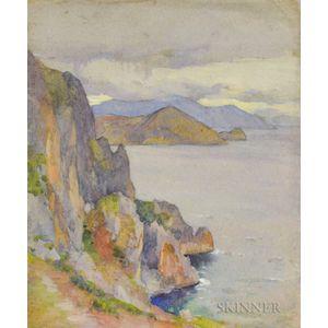 Mabel May Woodward (American, 1877-1945)      Mountainous Coast