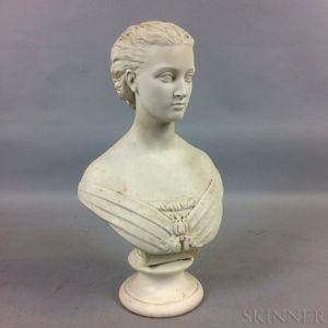 Copeland Art Union of London Parian Bust of Alexandra