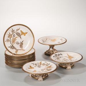 Fifteen-piece Worcester Porcelain Partial Service
