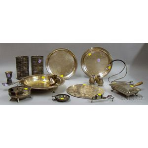 Group of Silver Plated Serving Items