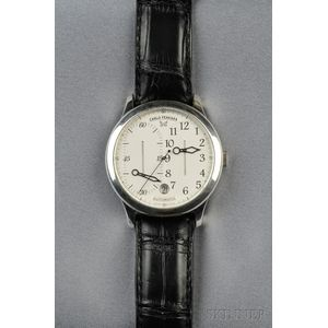 "Stainless Steel ""Regulatore"" Wristwatch, Carlo Ferrara"