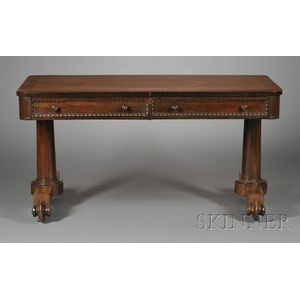 William IV Rosewood and Crossbanded Library Table