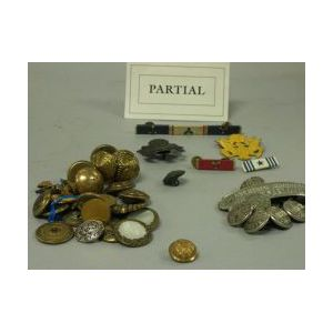 Collection of United States Military, State and Business Uniform Metal Buttons.