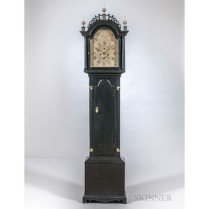 Luther Smith Black-painted Tall Clock