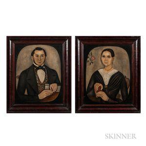 Thomas Skynner (act. 1840-1852)      Portraits of Mr. and Mrs. Jacob Conklin