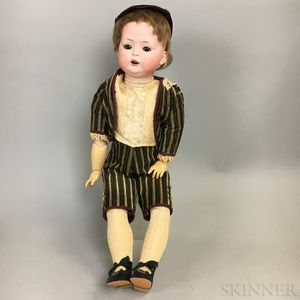 Large Bahr & Proschild Bisque Head Character Boy Doll