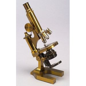 Lacquered-Brass Compound Microscope by Ernst Leitz