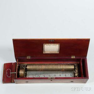 Nicole Freres Key-wind Cylinder Musical Box