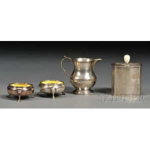 Four Sterling Tableware Items