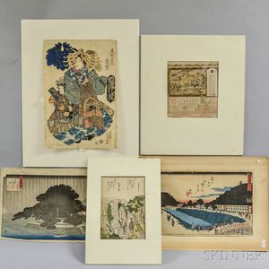 Eight Woodblock Prints