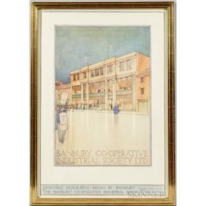 William Guest Hubbard (British, 19th/20th Century)      Architectural Watercolor Rendering