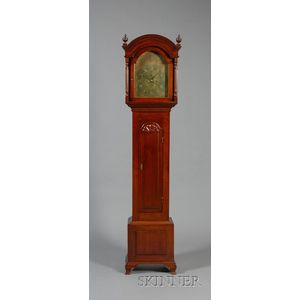 Chippendale Cherry Tall Clock