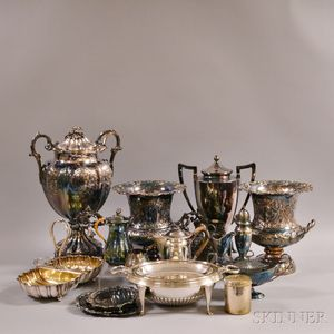 Seventeen Pieces of Silver-plated Tableware