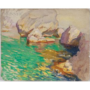 Mabel May Woodward (American, 1877-1945)      Rocky Cove