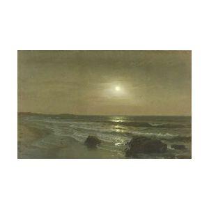William Trost Richards (American, 1833-1905)  Moonlight