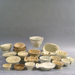 Twenty-four Creamware Culinary Molds