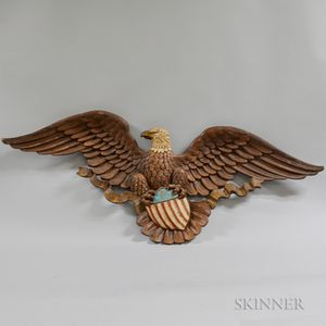 Molded and Painted Composite Spreadwing Eagle Plaque