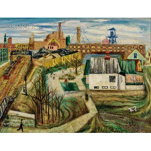Aaron Bohrod (American, 1907-1992)      Factory Scene