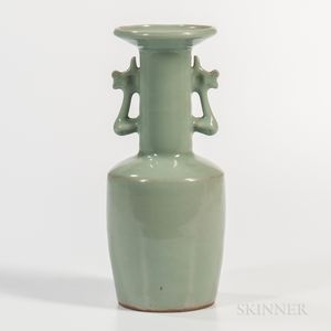 Longquan Celadon Mallet-shaped Vase