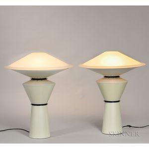 Pair of Arteluce Giada Table Lamps
