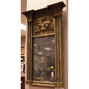 Late Federal Giltwood Tabernacle Mirror.