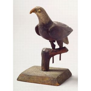 Carved and Painted Wooden Miniature Eagle